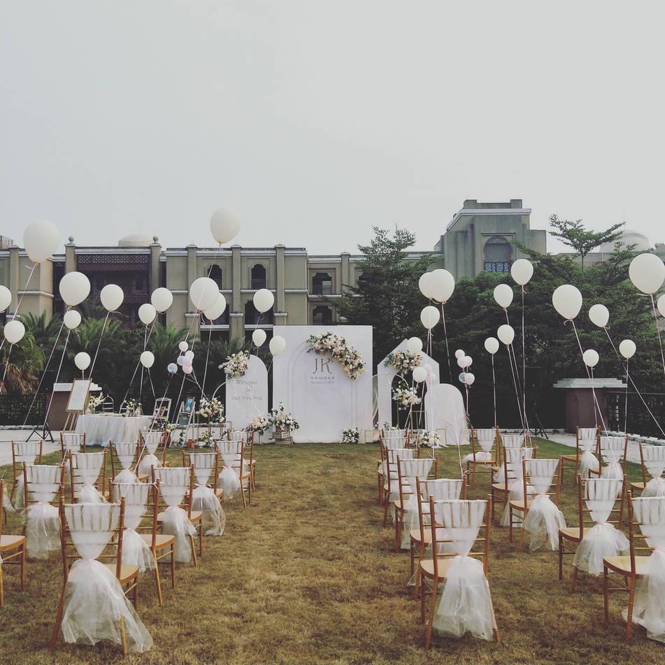 香槟色户外+室内婚礼